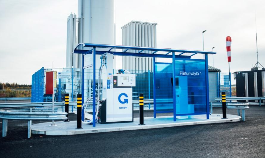 Gasum открывает АЗС сжиженного биогаза в Лието