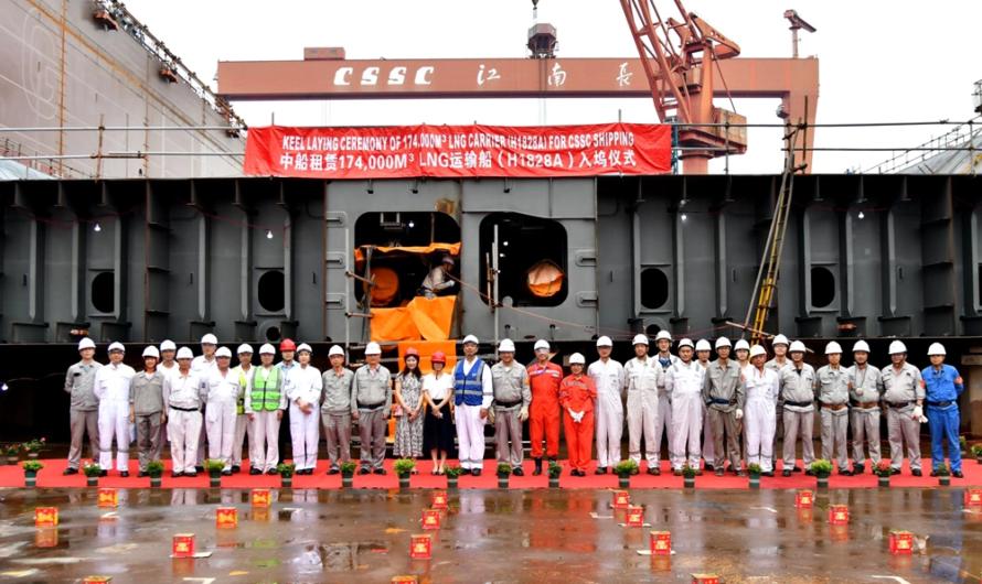 Hudong готовится сдать третий газовоз для Ямал СПГ