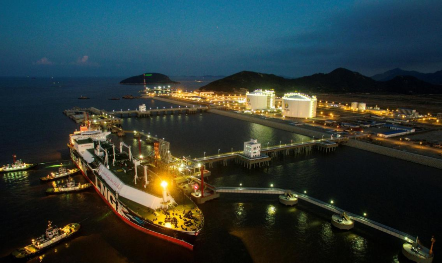 Импорт СПГ через китайский терминал Чжоушань вырастет до 2 млн. тонн в год благодаря подводному газопроводу