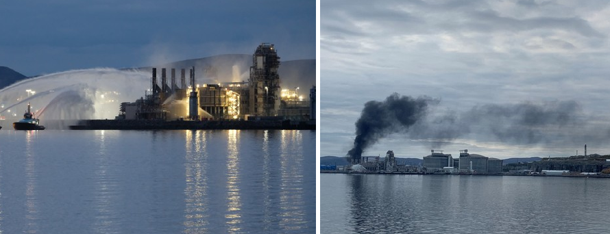 Пожар на заводе Hammerfest LNG локализован