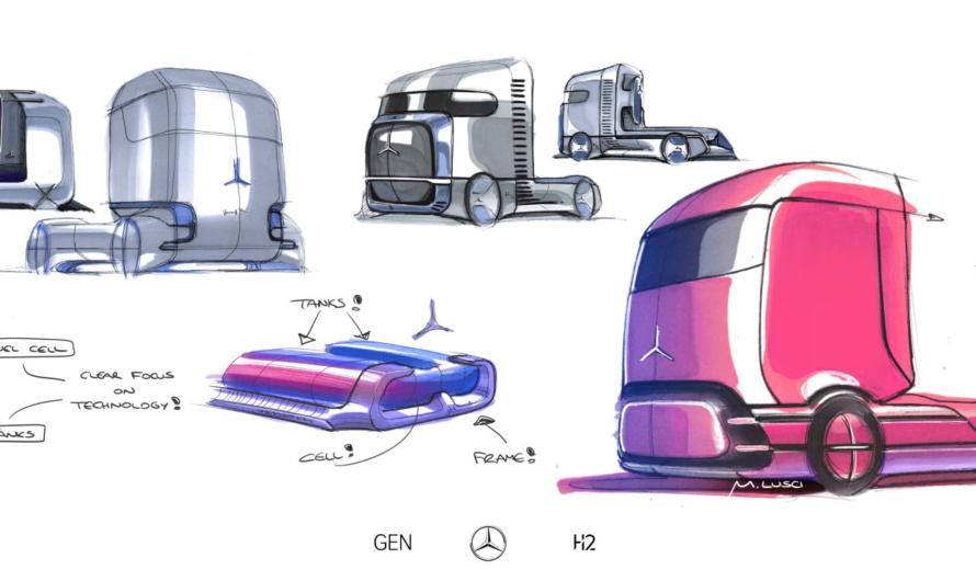 Daimler представила концепт тягача на жидком водороде GenH2