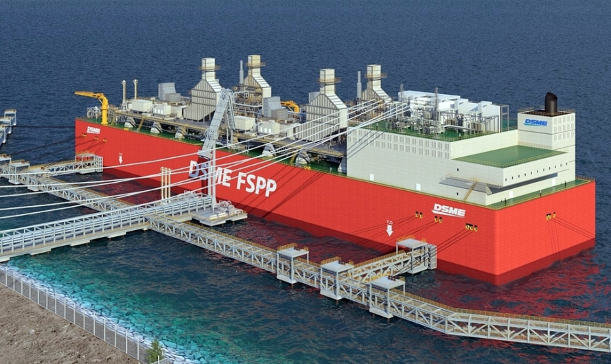 Daewoo Shipbuilding получила одобрение на плавучую ЭС и СПГ терминал