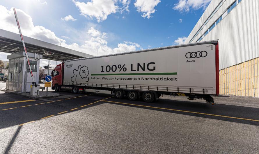 Audi использует в логистике грузовики на СПГ