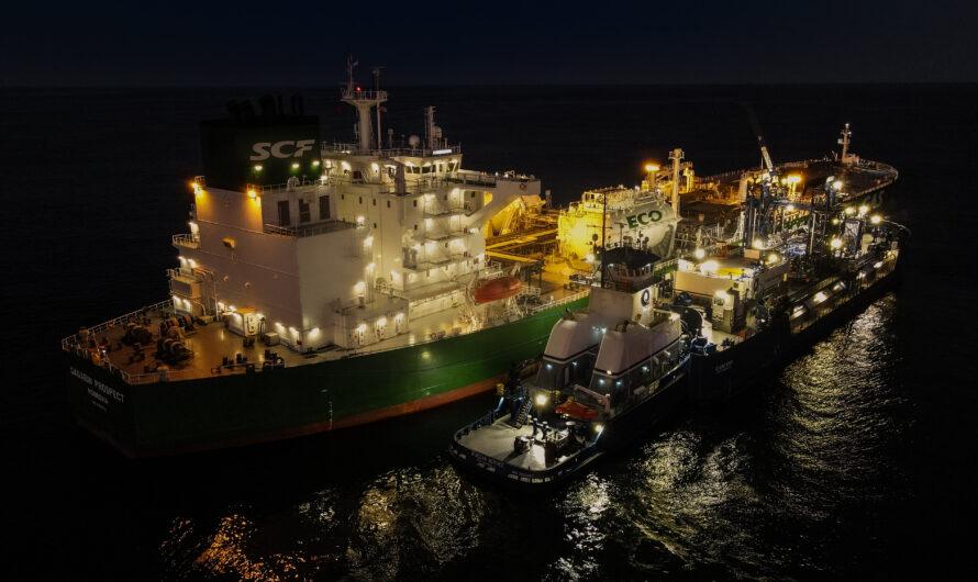 Совкомфлот и Shell совершили первую в США бункеровку СПГ-топливом крупнотоннажного танкера