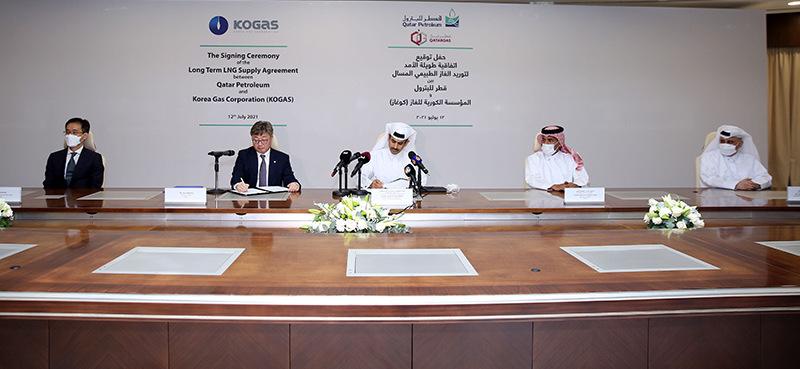 Qatar Petroleum и KOGAS подписали 20-летнее соглашение о поставке 2 миллионов тонн СПГ в год