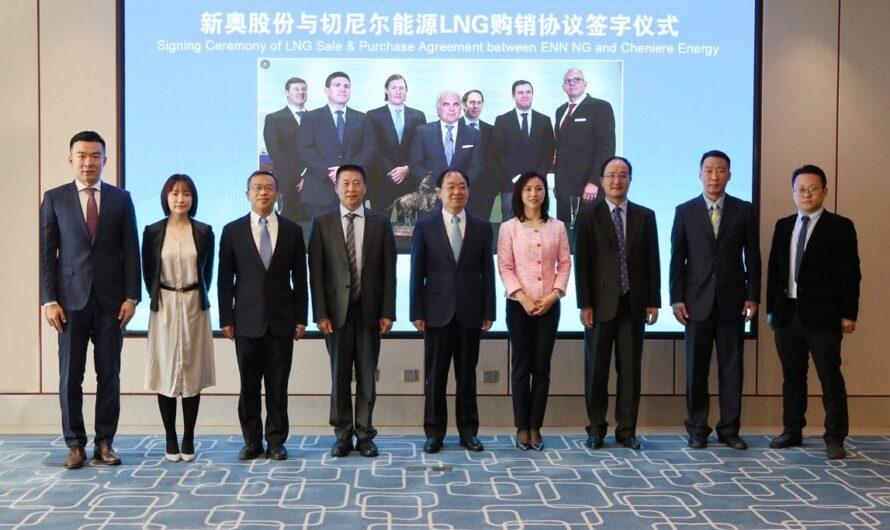 Cheniere и ENN LNG подписали договор поставки СПГ на 13 лет